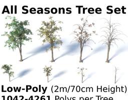 Ficus Benjamina Tree Set 3D model