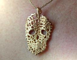 Leaf Skeleton Pendant Necklace 3D print model
