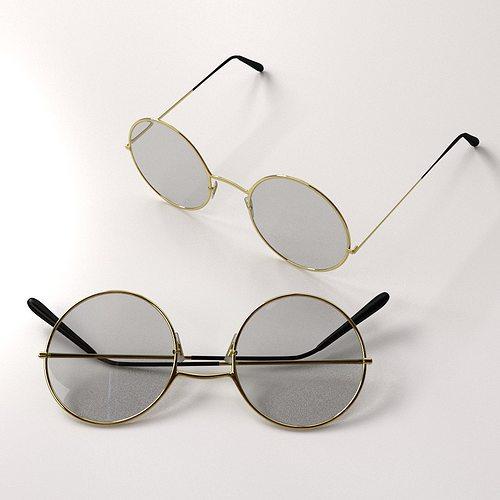 classic eyeglasses 3d model 3ds fbx blend dae 1