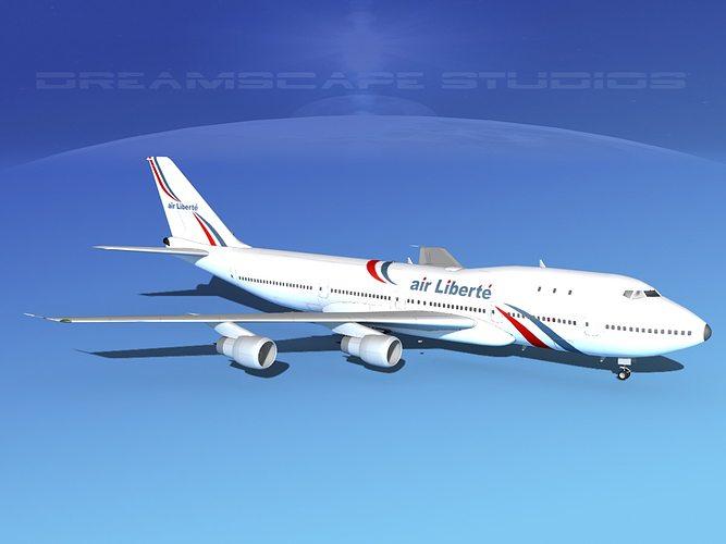 boeing 747-100 jumbo jet air liberte 3d model max obj mtl 3ds dxf stl 3dm 1