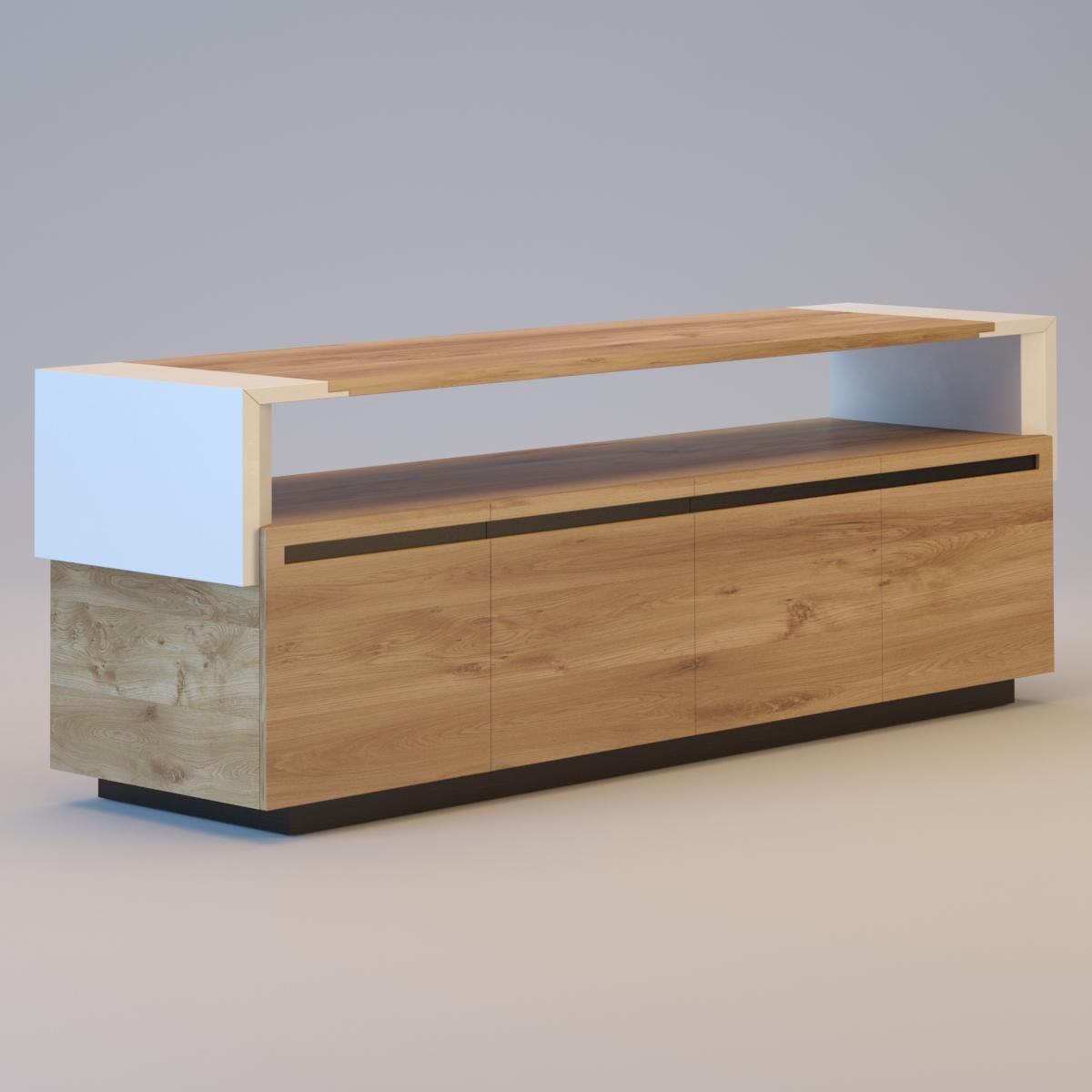 CROSSING Tanned leather sideboard 3D Model MAX OBJ 3DS MTL  -> Sideboard Tv Möbel