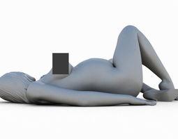 Woman pregnant 3D print model