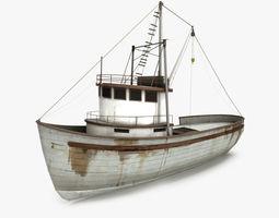 3D asset Fishing Boat
