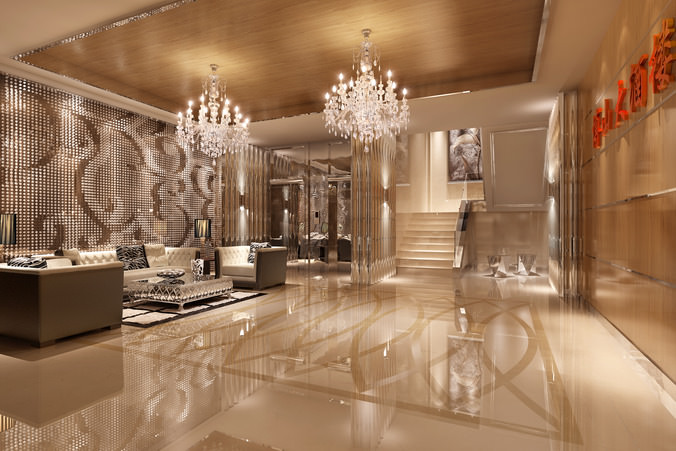 how to build a luxurious wall to wall foyer with luxury wall decor 3d cgtrader 71480