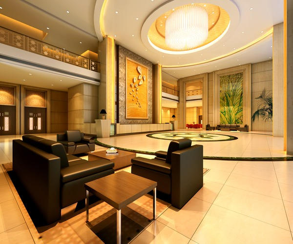 Foyer with High-end Wall Decor 3D model | CGTrader