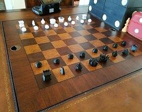 3D print model MILOSAURUS Chess Symbols Chess Set