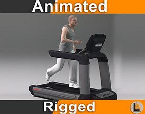 treadmill running male 3D