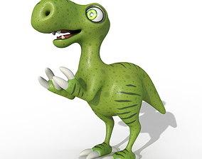 3D model Toy dinosaur green