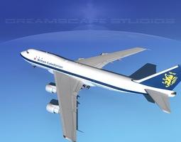 3D Boeing 747-100 British Caledonian