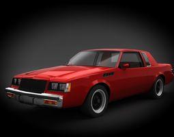 3D asset Buick Regal GNX 1987