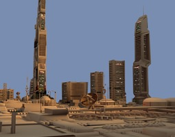 Keppler 22 Colonial City 3D model