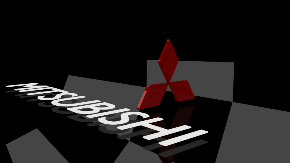 mitsubishi logo free vr ar lowpoly 3d model obj 3ds
