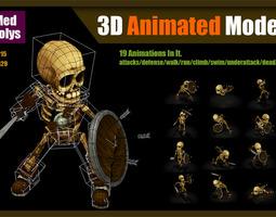 skeleton warrior 3d model max