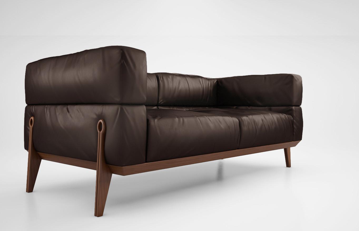 Giorgetti ago sofa 3d model max obj for Divan furniture models