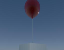 animated 3d model balloon