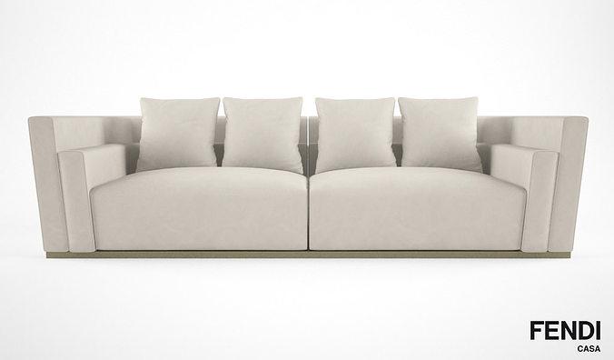 Fendi Casa Borromini Sofa 3d Model Max Obj Fbx 1 ...