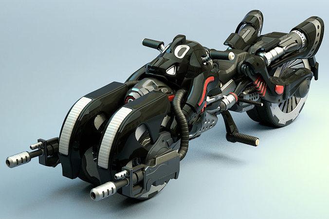 armed bike 3d model max obj mtl fbx 1