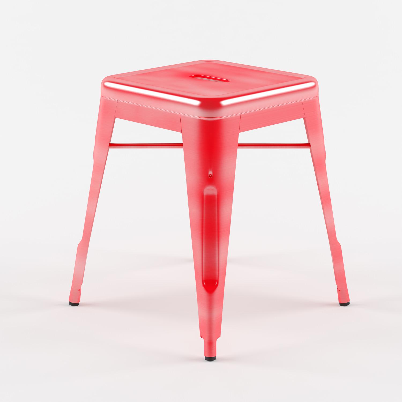 stool h45 tolix gross painted bright 3d model max obj fbx. Black Bedroom Furniture Sets. Home Design Ideas