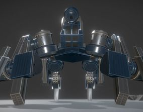 Futuristic Terrain Walker Blue Version Rigged and 3D model
