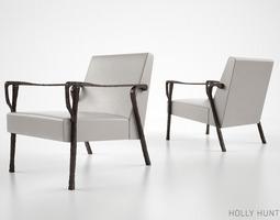 3D Holly Hunt Dublin lounge chair
