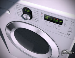washing machine 3d model max obj 3ds fbx c4d dae
