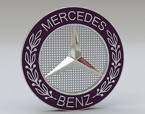 3D Mercedes logo set