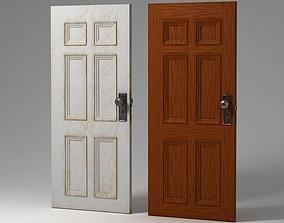 3D model Paneled Door