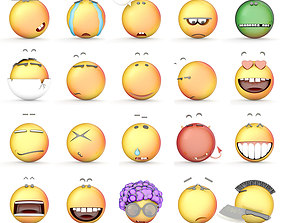 3D model Smile collection icons