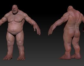 Fat Troll Human 3D model