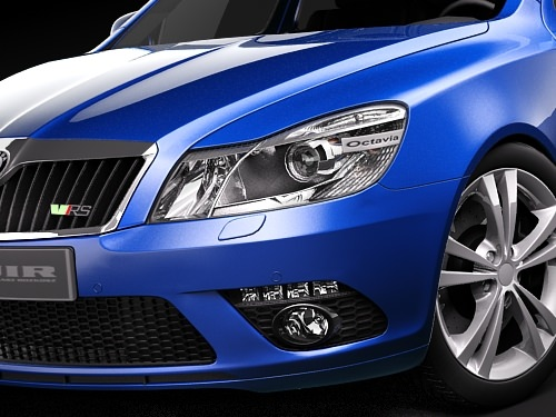 skoda octavia rs combi automobile 2010 3d model max 3ds 3