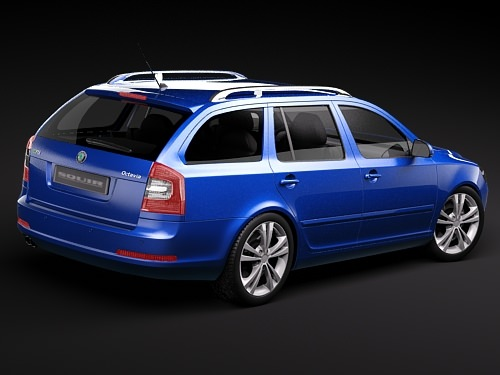 skoda octavia rs combi automobile 2010 3d model max 3ds 5