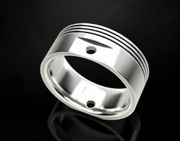 Ring Engine Piston design 3D printable model