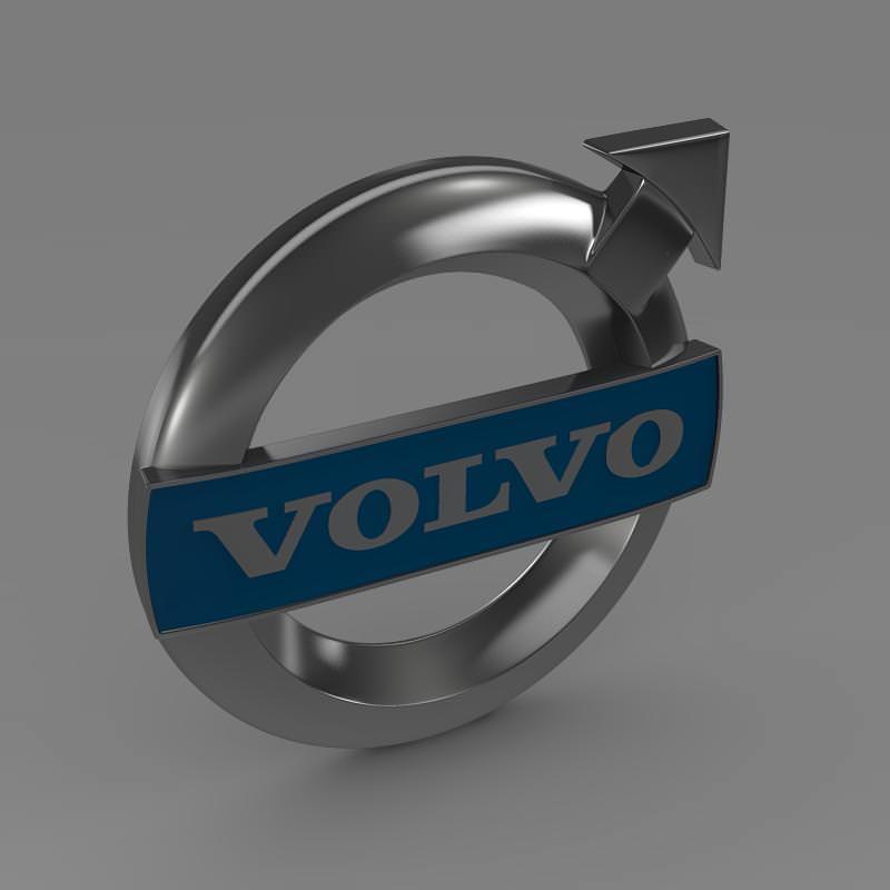 Volvo Logo 3d Model Max Obj 3ds Fbx C4d Lwo Lw Lws