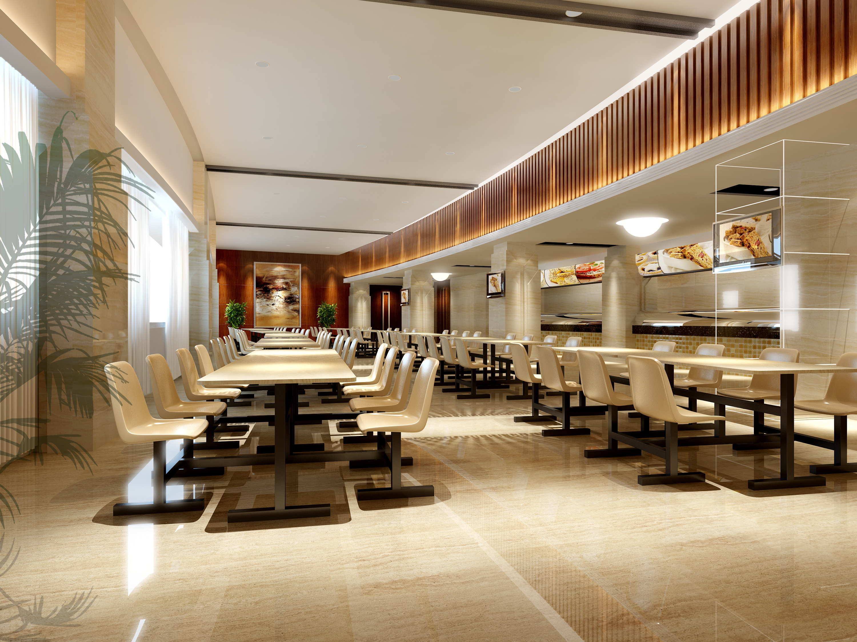 Restaurant with state of the art interior d model max