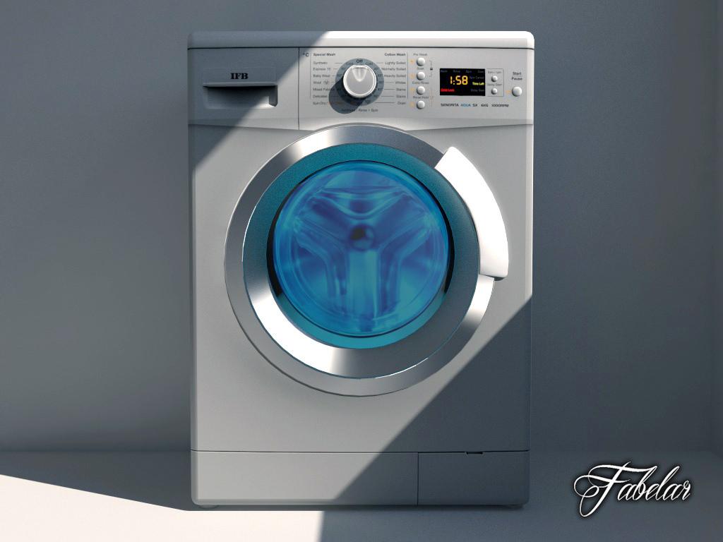 Washing Machine 03 Free Vr Ar Low Poly 3d Model Max