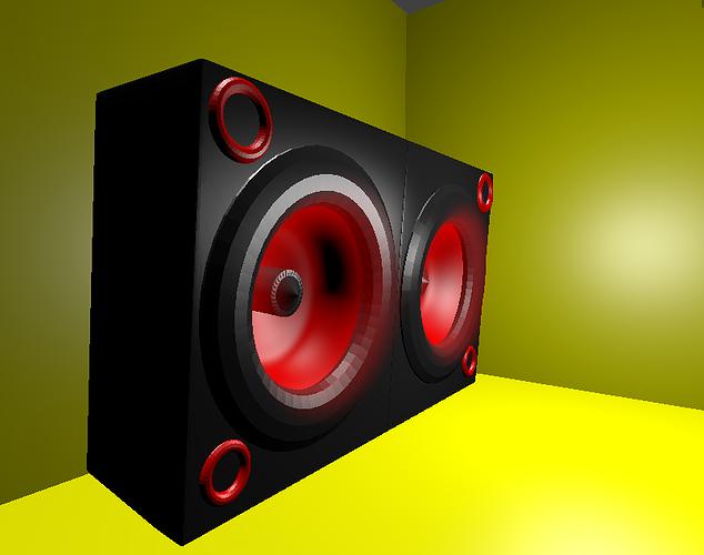 3d animated speaker cgtrader