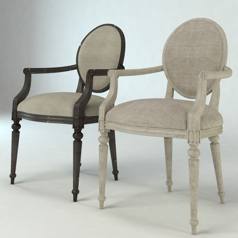 3D Louis XV Vintage Chair