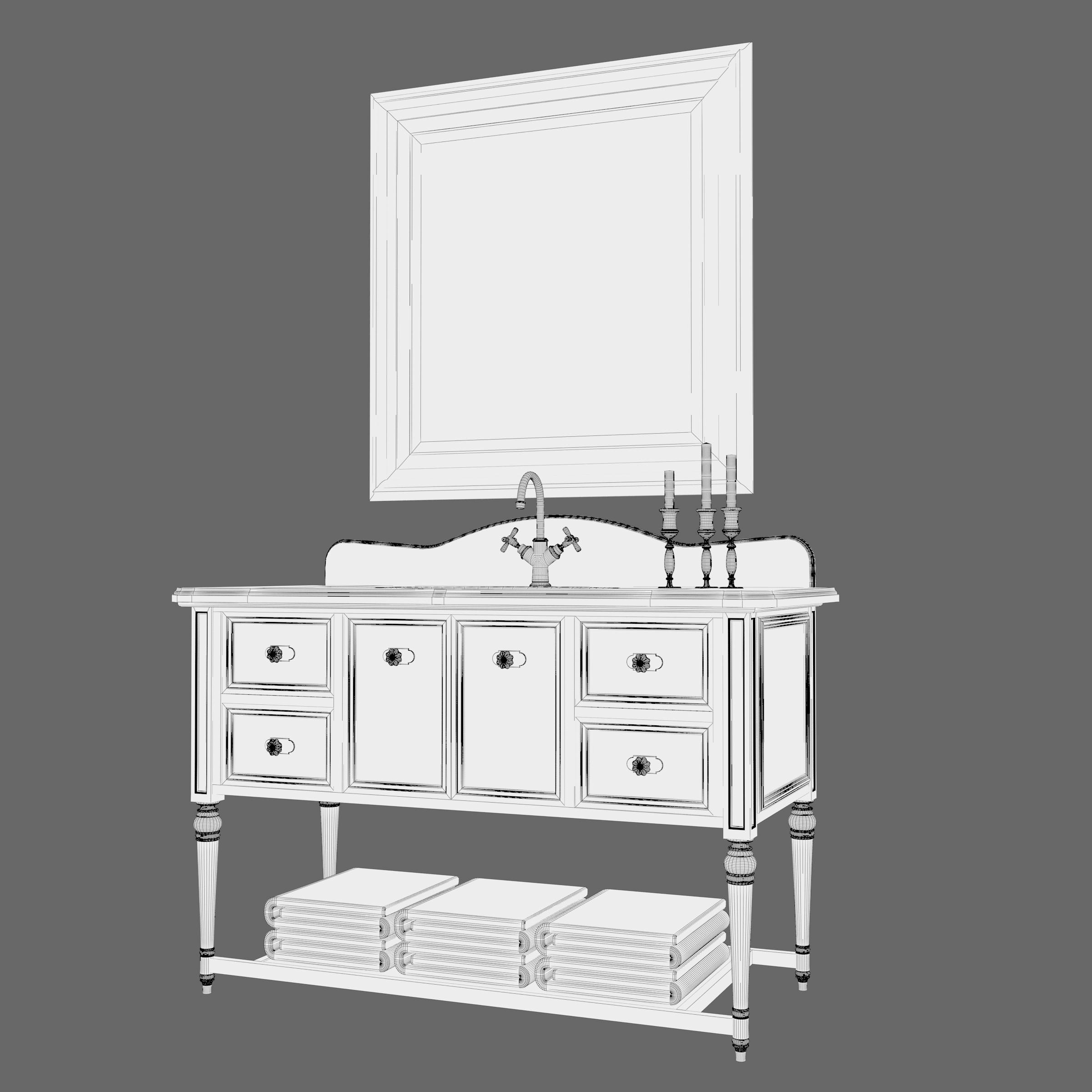 Vintage Bathroom Cabinet 3D | CGTrader
