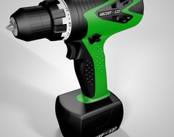 electric screwdriver 3d