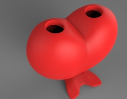 3D printable model Heart pencil stand