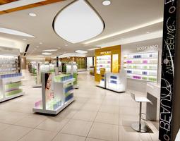 cosmetics store 3d model