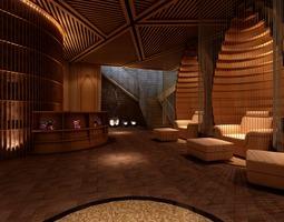 Fully Furnished Elegant SPA Room 3D model