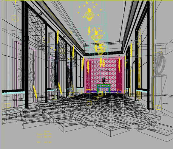 Luxury elevator with stylish tiles 3d model max for Luxury elevator