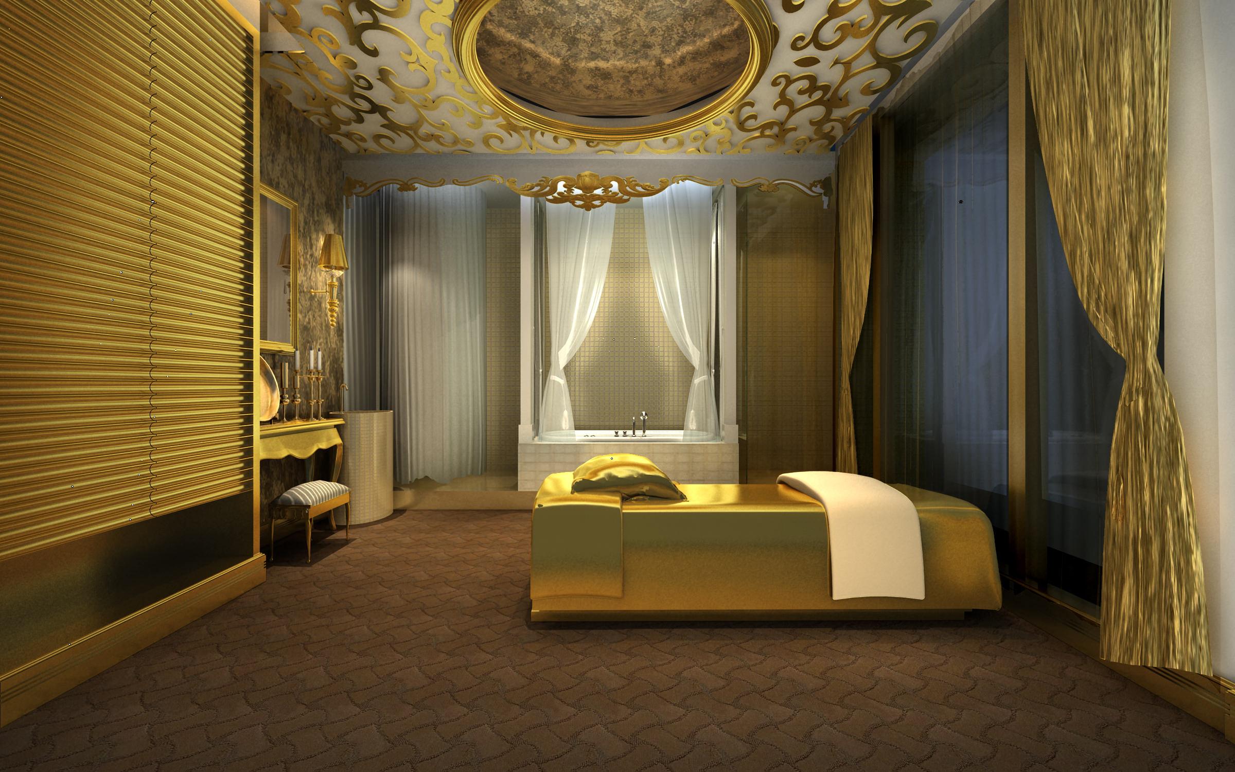 Spa Room Royal Designer Ceiling 3d Model Max Cgtrader Com