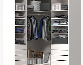 Wardrobe with Clothes 3D
