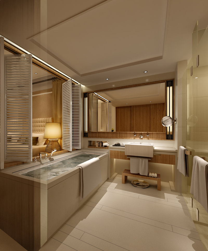Beautiful Guest Bathroom With Exotic Lamp D Model Max With Exotic Bathrooms.