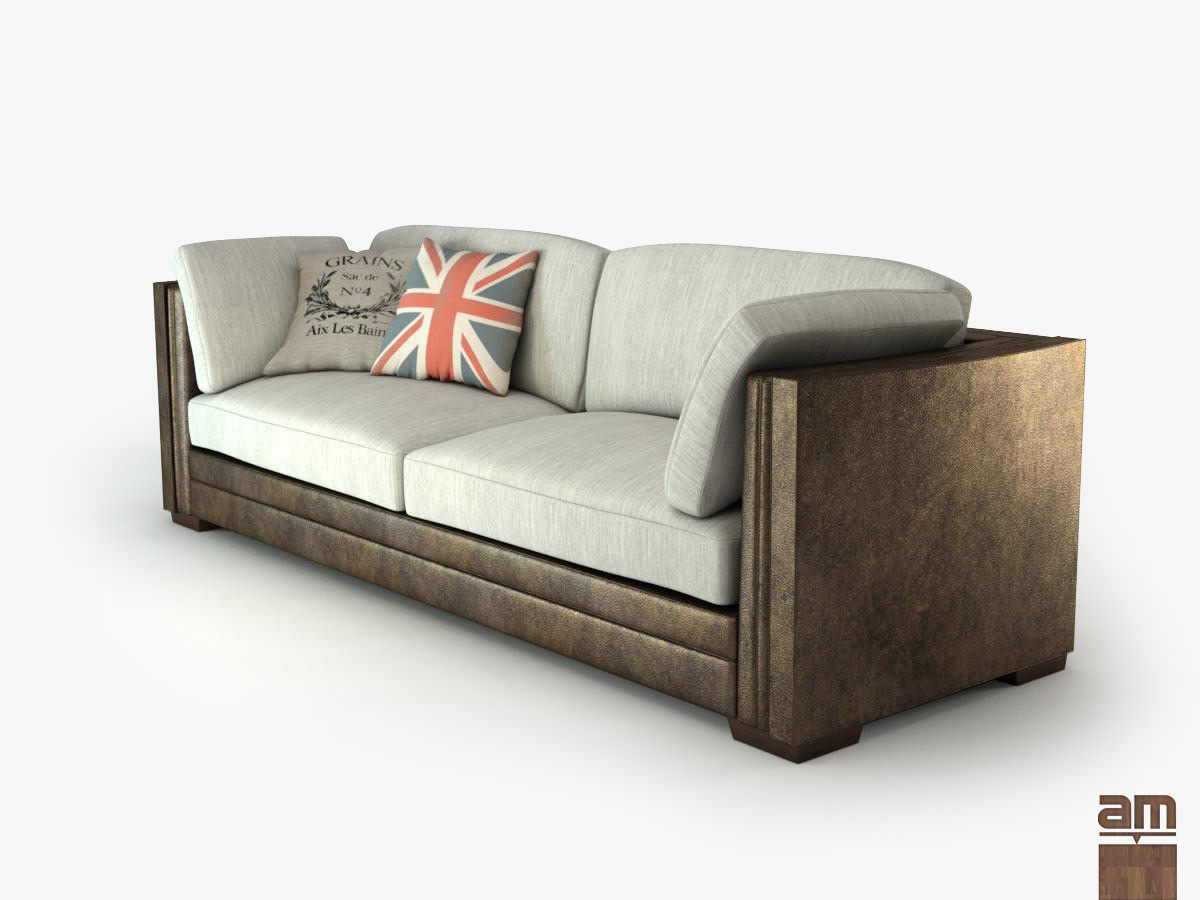 london sofa 3D model Vintage London Sofa | CGTrader london sofa