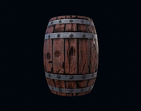 PRG barrel ready for a game 3D asset