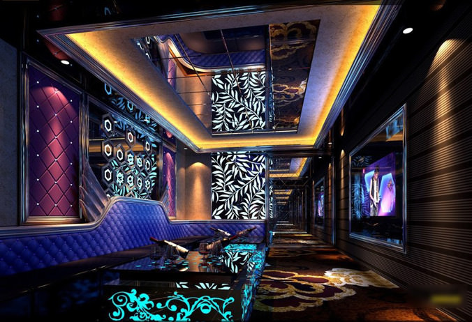 Luxurious Lounge With Floral Interior Design 3d Model Max