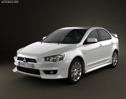 3D model Mitsubishi Lancer Sedan